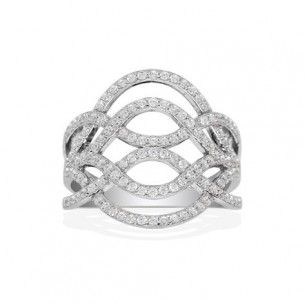 APM Schmuck Ring SI 925 Zirkonia, A14124OX