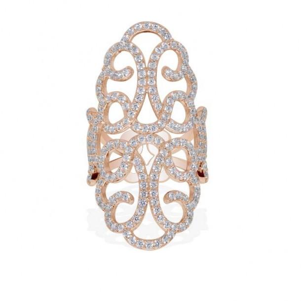 APM Schmuck Ring ROSE 925 Zirkonia, R14444OX