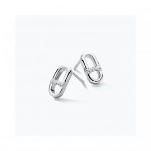 FJF Jewellery Ohrstecker Silber 925/- Zirkonia Swarovski 83670, 9120081463837