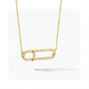 FJF Jewellery Collier silbervergoldet 925/- Zirkonia Swarovski 83668, 9120081463738