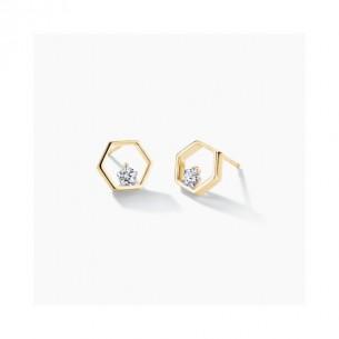 FJF Jewellery Ohrstecker Icon Pentagon vergoldet 925/- 83669, 9120081461222
