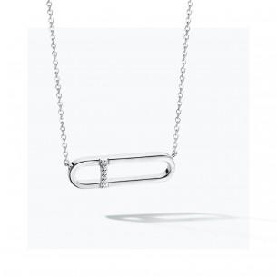 FJF Jewellery Collier silber 925/- - Zirkonia Swarovski 83666, 9120081463653