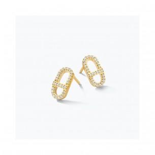 FJF Jewellery Ohrstecker silbervergoldet 925/- Swarovski Zirkonia 83672, 9120081463912
