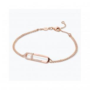 FJF Jewellery Armband silber rose vergoldet Zirkonia Swarovski 83674, 9120081464247