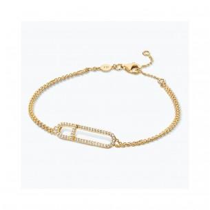 FJF Jewellery Armband silbervergoldet Pave Zirkonia Swarovski 83675, 9120081464285