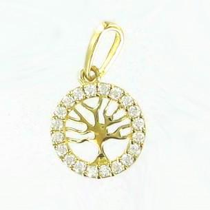 Palido Anhänger Lebensbaum Gold mit Zirkonia 83677, 9010595793622