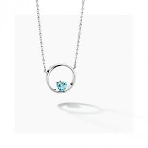 FJF Jewellery Collier Herz silber 925/- Zirkonia Swarovski blau 83688, 9120081463172