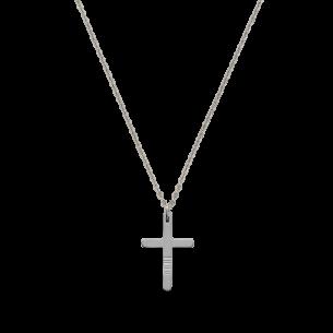 Xenox Herrenkette mit Kreuz Stahl 83691, 9010050080021