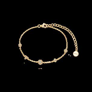 Xenox Armband silbervergoldet 925/- Zirkonia 83725, 9010050081974
