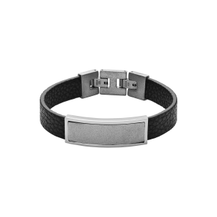 Xenox Armband Leder-Stahl 83710, 9010050079995