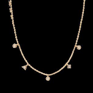 Xenox Collier silbervergoldet 925/- Zirkonia 83721, 9010050081936