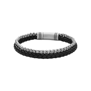 Xenox Armband Leder-Stahl 83711, 9010050079933