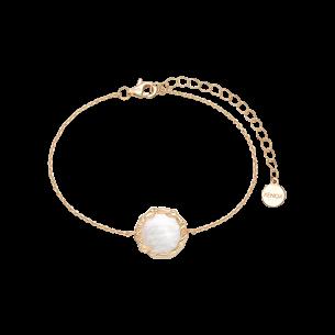 Xenox Armband silbervergoldet 925/- Perlmutt 83731, 9010050081561