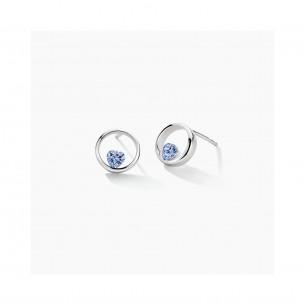 FJF Jewellery Ohrstecker Silber 925/- Zirkonia blau 83781, 9120081463196