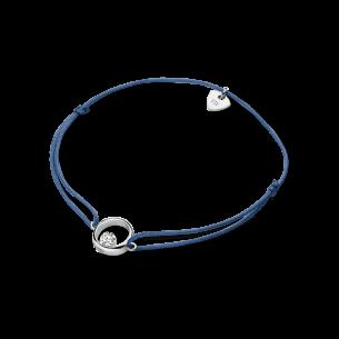 FJF Jewellery Stoffarmband mti Silberteil Zirkonia 83782, 9008160043524