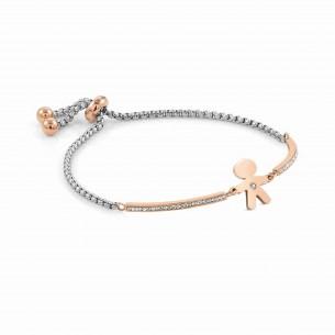 Nomination Armband Stahl mit Bub rose Zirkonia 83963, 8033497496928