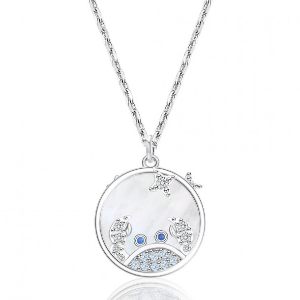 Juwelier Waschier Kette mit Sternzeichen Krebs - Perlmutt & Zirkonia 84125,