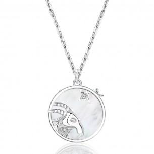 Juwelier Waschier Kette mit Sternzeichen Steinbock - Perlmutt & Zirkonia 84126,