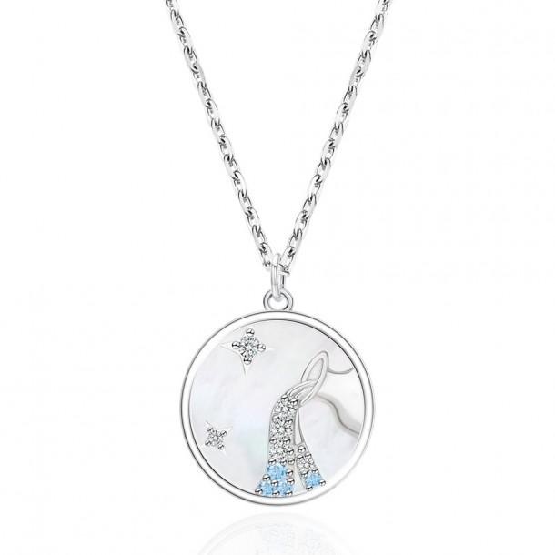 Juwelier Waschier Kette mit Sternzeichen Wassermann - Perlmutt & Zirkonia 84124,