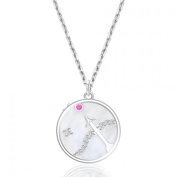 Juwelier Waschier Kette mit Sternzeichen Schütze - Perlmutt & Zirkonia 84131,