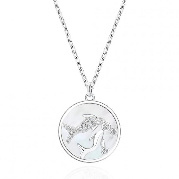 Juwelier Waschier Kette mit Sternzeichen Fische - Perlmutt & Zirkonia 84130,