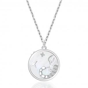 Juwelier Waschier Kette mit Sternzeichen Skorpion - Perlmutt & Zirkonia 84132,