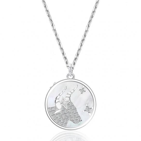 Juwelier Waschier Kette mit Sternzeichen Stier - Perlmutt & Zirkonia 84133,