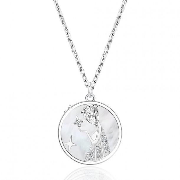 Juwelier Waschier Kette mit Sternzeichen Jungfrau - Perlmutt & Zirkonia 84134,