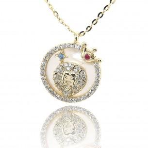 Juwelier Waschier Sternzeichen Löwe vergoldet mit Perlmutt & Zirkonia 84226,