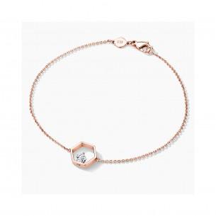 FJF Jewellery Armband Icon Pentagon Rosegold/ Weiß 84603, 9120081461369