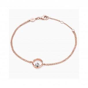 FJF Jewellery Armband Icon Heart Roségold / Weiß 84601, 9120081463240