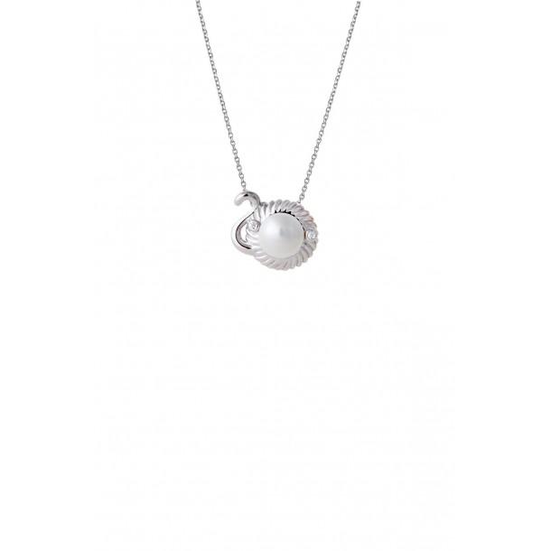 Damencollier mit Sternzeichen und synthetischer Perle, XS2957