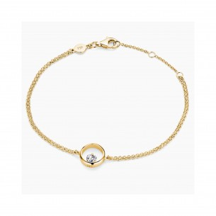 FJF Jewellery Armband Icon Heart Gelbgold / Weiß 84602, 9120081463257