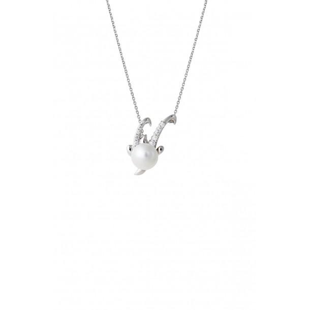 Damencollier mit Sternzeichen und synthetischer Perle, XS2950