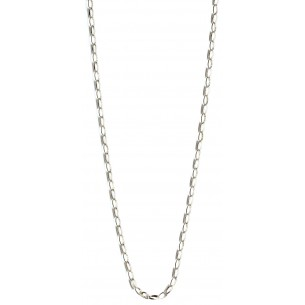 Silberkette - Erbskette rhodiniert, AC-1003
