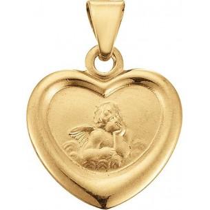 Taufanhänger Herz mit Schutzengel, TA128