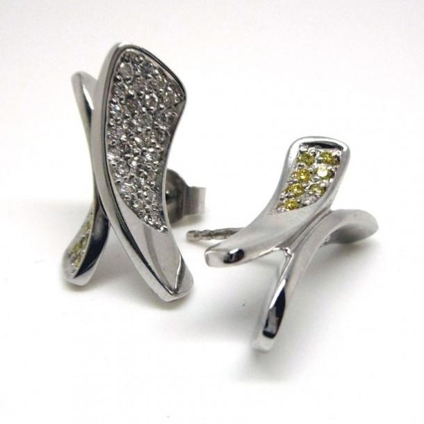 97-001-52, Ohrschmuck Diamant Weißgold 14 karat