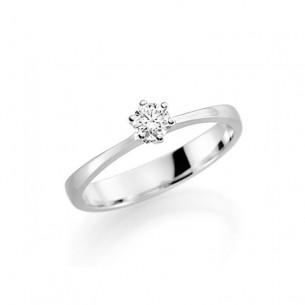 Verlobungsring Weissgold Brillant, 4182144-0