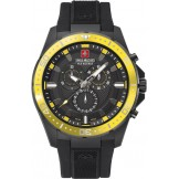06-4212.27.007.11, Swiss Military Hanowa Uhr,Herrenarmbanduhr,Kunststoffband,Quarzchronograph,45mm,