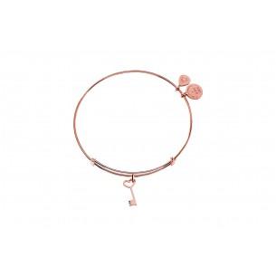 Schlüssel Armreif silber rosé vergoldet, SI3015RG