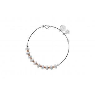 Bicolor Armreif Silber rhodiniert, PA8002RH