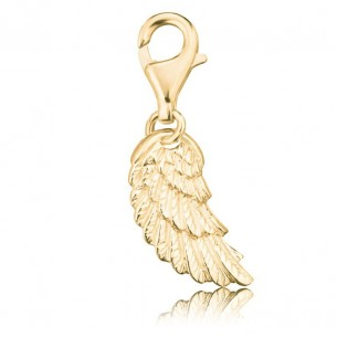 Engelsrufer Charm Flügel gold plated, ERC-WING-G