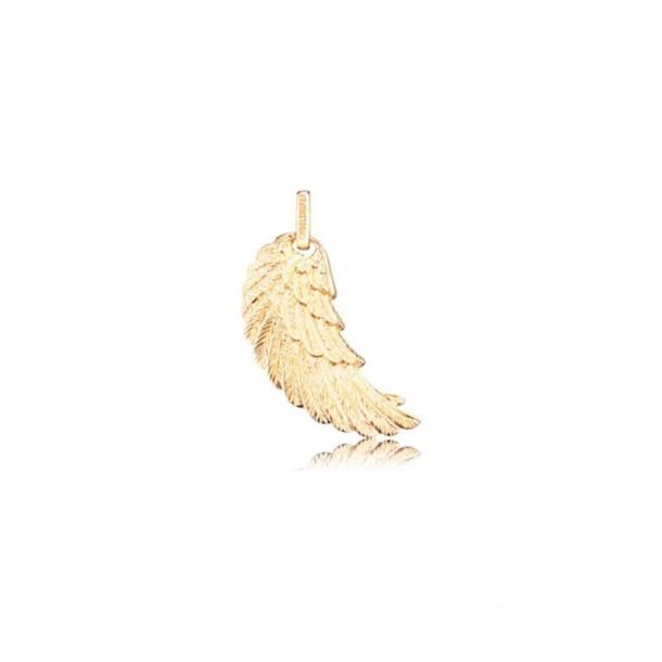 ERW-M-G, Engelsrufer Flügel detailliert gold plated mittel