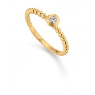 111, Verlobungsring Gelbgold