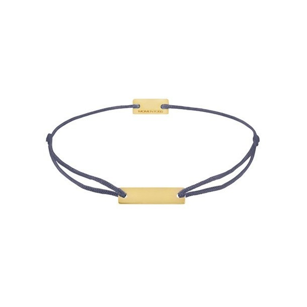 21200317, Armband Gravurplatte - Textilband grau