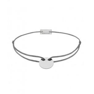21200004, Armband Gravurplatte - Textilband grau