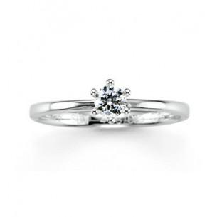 Verlobungsring Brillant - Weissgold, 4185870-0
