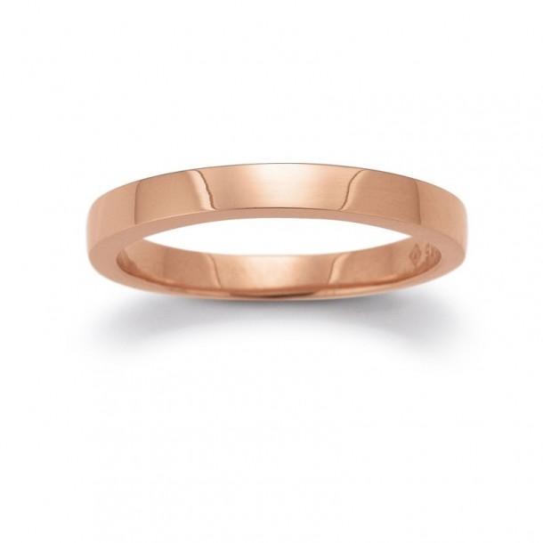 F1519/R, Ring Rotgold - glatt poliert