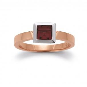 F1503_R, Rosegold Ring - Granat