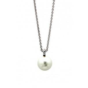 Xenox - Silbercollier Perle/Zirkonia, XS5195